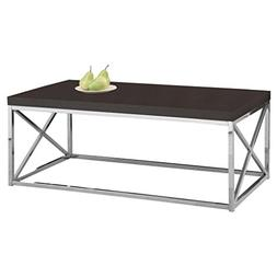 Monarch Specialties I 3270, Cocktail Table, Chrome Metal, Ca