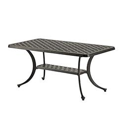 "WE Furniture 42"" Cast Aluminum Wicker Style Outdoor Coffee T"