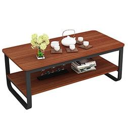 gootrades 47'' Coffee Table Rectangle Wooden Cocktail Table