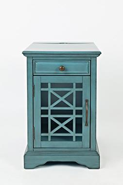 Jofran 175-22 Craftsman Power Chairside Table Antique Blue,