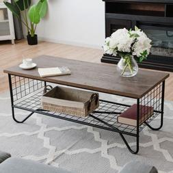 Coffee Accent Cocktail Sofa Side Table Solid Metal Frame 41.