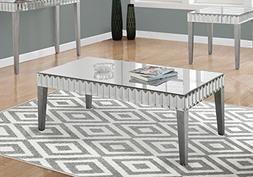 """Monarch Coffee Table, Brushed Silver, 48"""" x 24"""""""