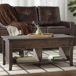 Coffee Table, Features Top that Lifts Up and Forward to Crea