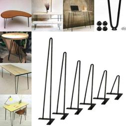 "Black Coffee Table Hairpin Legs 8"" 16"" 22"" 30""  3/8"" Solid I"