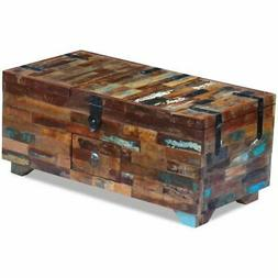 "Coffee Table Box Chest Solid Reclaimed Wood 31.5""x15.7""x13.8"