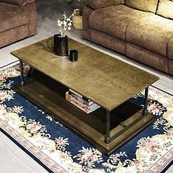 Coffee Table Bronze Modern Industrial Vintage Home Office So