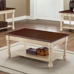 Coaster Home Furnishings Coffee Table Dark Brown/Antique Whi