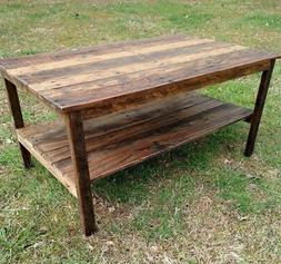 Coffee Table- Handmade - Reclaimed Pallet Wood- UpCycled - V