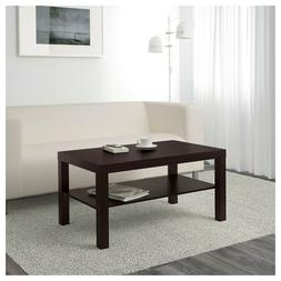 Coffee Table IKEA Lack Side End Black Brown TV Stand Laptop