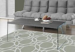 Monarch Specialties I 3220, Coffee Table, Tempered Glass, Gr