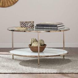 Coffee Table Rambix Glam Round Gold by Ember Interiors Livin