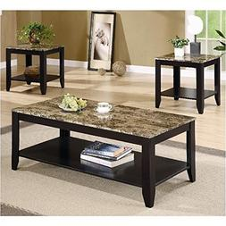 Coaster Home Furnishings 3-piece Occasional Table Set with S