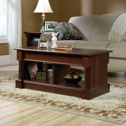 Coffee Table Storage with Lift Top Brown Laminate Wood Livin