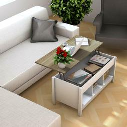 COFFEE TABLE with Hidden Compartment Lift Tabletop STORAGE M