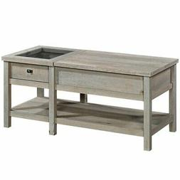 Sauder Cottage Road Lift Top Storage Coffee Table in Mystic