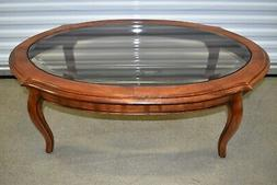 country french coffee table birch glass 26