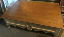 country french coffee table with drawers