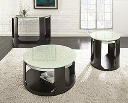 Steve Silver Croften Cracked Glass Cocktail Table with Caste