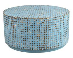 East at Main Cummings Coconut Shell Inlay Round Coffee Table