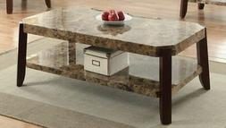 Dacia Faux Marble Coffee Table 82125 New