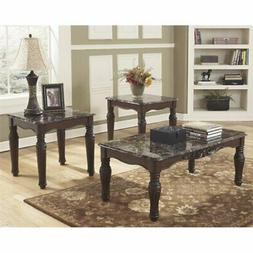 Set of 3 Dark Brown Occasional Tables - Signature Design by