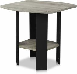 Oak Grey End Table Sofa Side Coffee Night Stand Living Bed R