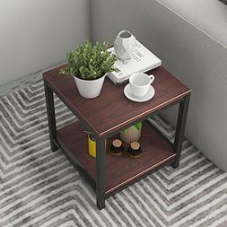 """Dland Side End Table 15.7"""", Composite Wood Board, Nightstand"""