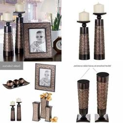 Dublin Decorative Candle Holder Set of 2 - Home Decor Pillar