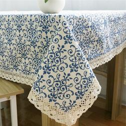 Dust-proof Lace Tablecloth Table Cover Kitchen Classical Cof