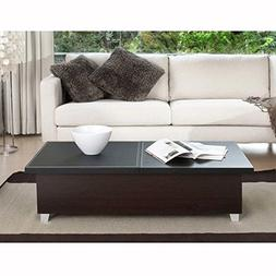 Enitial Lab Zoe Modern Swivel Coffee Table - Black/White