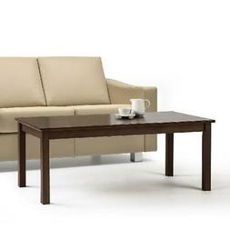 Espresso Finished Pine Wood Coffee Table Home Living Room El