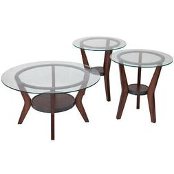 fantell 3 piece occasional coffee table set