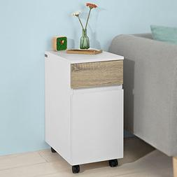 Haotian FBT54-WN, Side Table End Table Coffee Table on Wheel