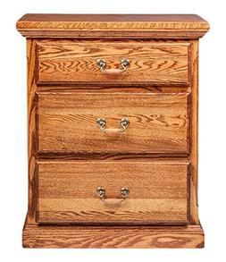 Forest Designs FD-3035- TC- CoA Traditional Three Drawer Nig