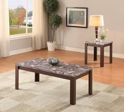 ACME Furniture 82136 2 Piece Arabia Coffee/End Table Set, Fa