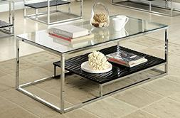 Furniture of America Gacelle Contemporary Glass Top Coffee T