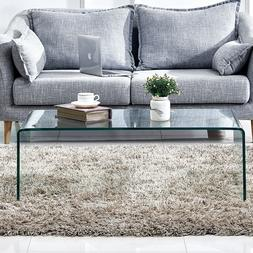 Glass Coffee Table Square End/Console Table Side/End Table L