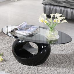 Glass Coffee Table Contemporary Living Room Home Furniture H