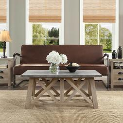 Granary Modern Farmhouse Coffee Table, Rectangle rustic gray