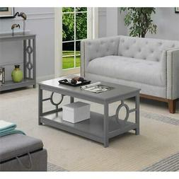 Convenience Concepts Gray Ring Coffee Table