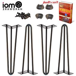 """Omoi Hardware 16"""" Hairpin Legs, 3 Rods, 1/2"""" Thick, Heavy Du"""