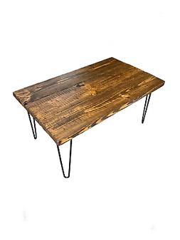 ThorWoods Handmade Rustic Distressed Real Wood Coffee Table