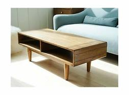 Haven Home Dexter Mid-Century Coffee Table - Walnut - Rectan