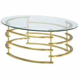HOMES Inside + Out IDF-4359GL-C Natalie Coffee Table, Gold K