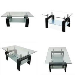 Hot Style Rectangular Tempered Glass Coffee Table Kitchen Ho