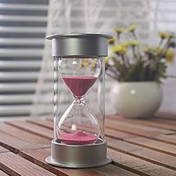 30 Minutes Hourglass,Siveit Modern Sand Timer with Pink Sand