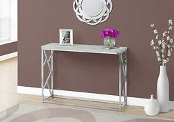 Monarch Specialties I 3377 Console Table-Grey Cement with Ch