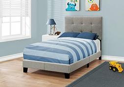 Monarch Specialties I I 5920T Bed Size Linen, Twin, Grey