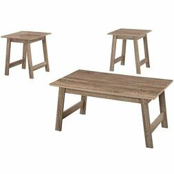 Monarch Specialties I I 7931P Table 3PCS Set, Dark Taupe