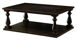 HOMES: Inside + Out IDF-4420C Aiden Coffee Table, Dark Walnu